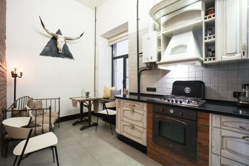 дизайн кухни с котлом