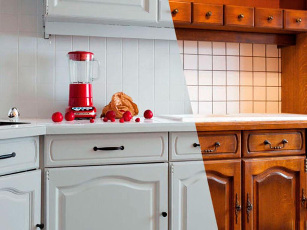 замена пленки на фасаде кухни