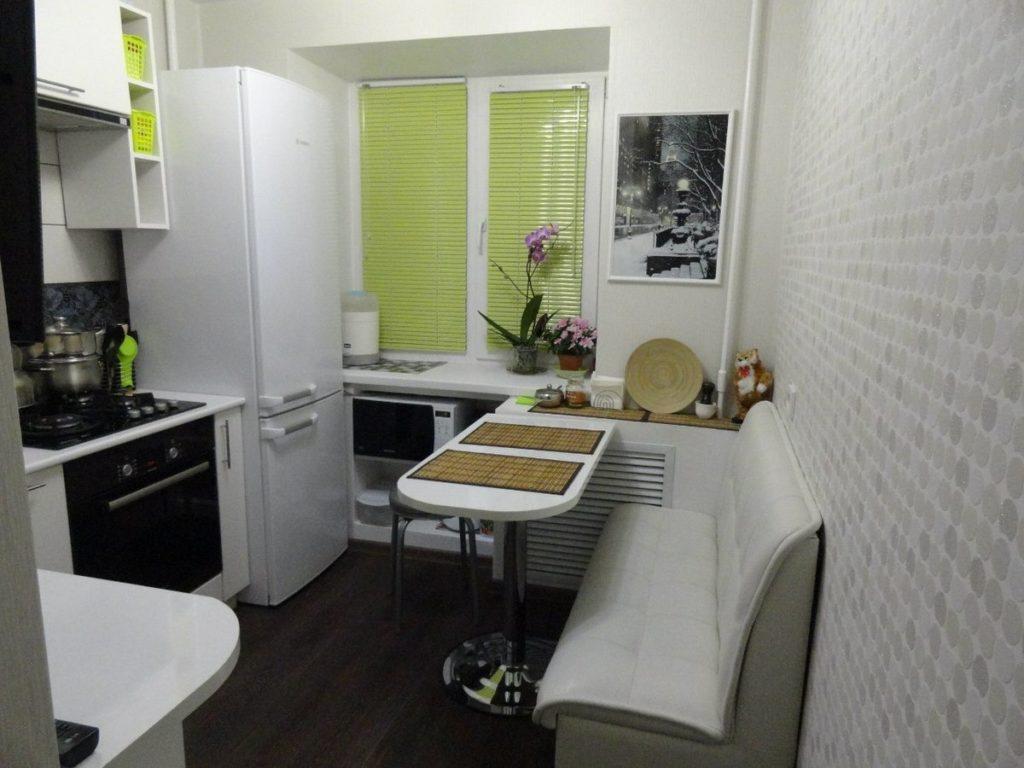 дизайн кухни в панельной девятиэтажке