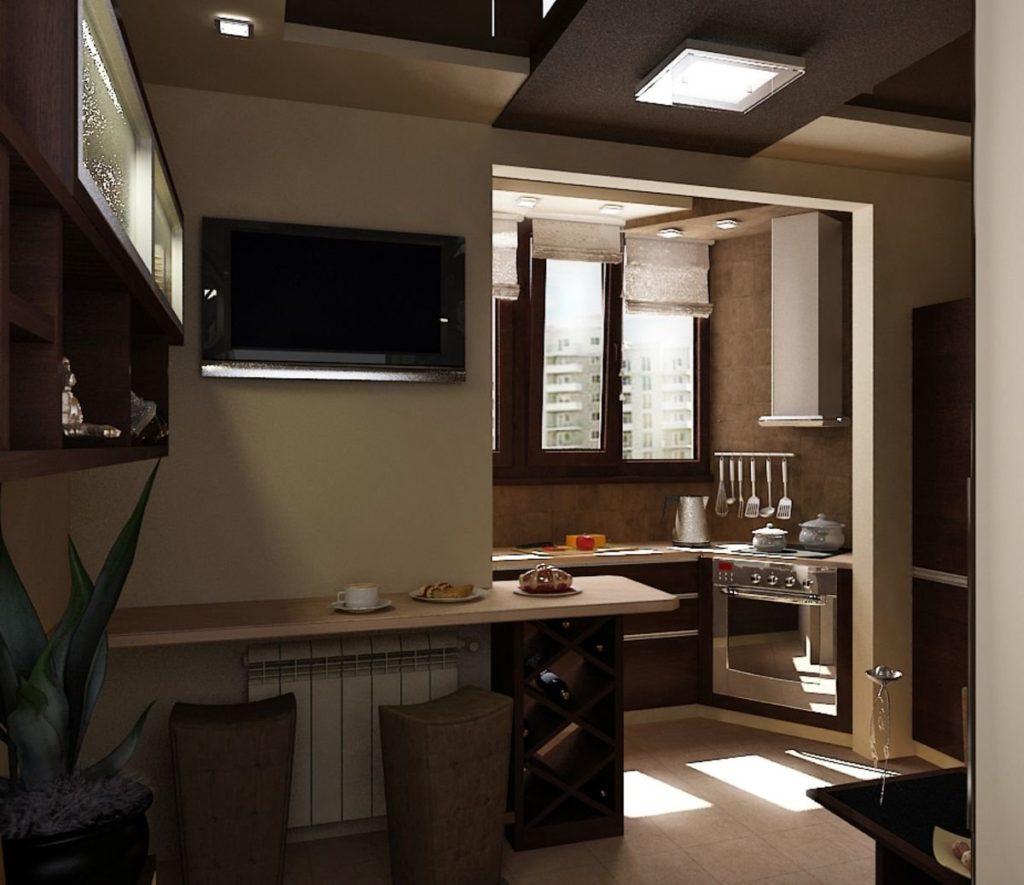 планировка кухни в панельном доме