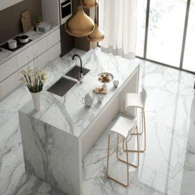 Керамогранит в интерьере кухни – изящество дизайнерских стилей в оформлении кухонь, 100+ лучших фото