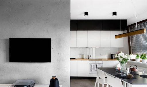 декоративная штукатурка для кухни фото в интерьере