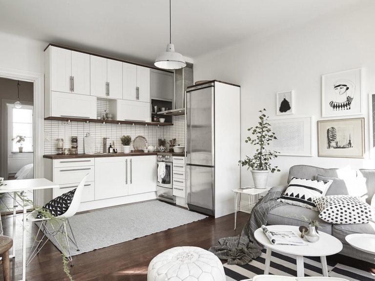 кухня гостиная 18 кв м