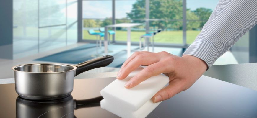 как отмыть стеклокерамическую плиту