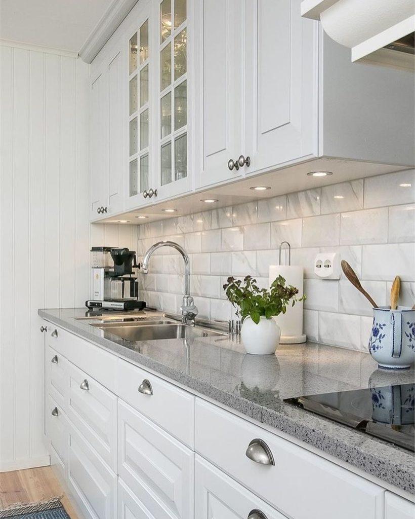 как подобрать фартук к кухонному гарнитуру