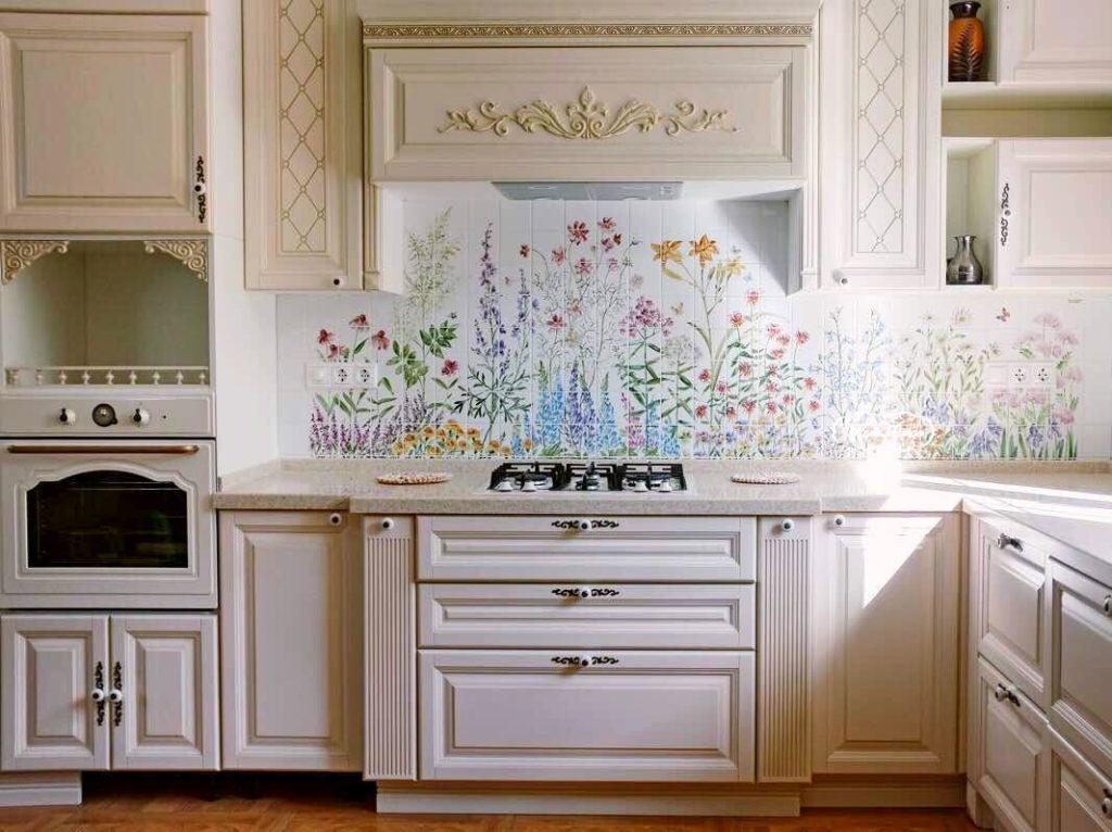 как выбрать фартук для кухни по цвету