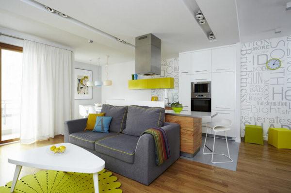 дизайн кухни гостиной 18 кв м