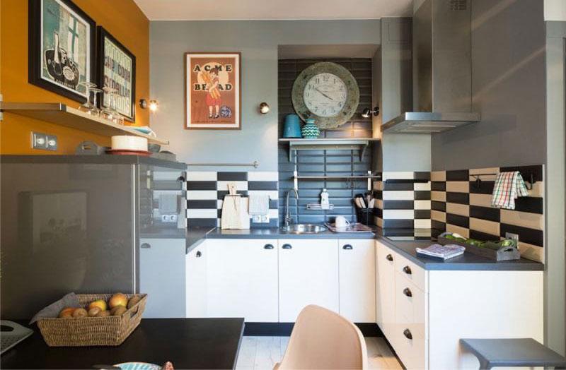 фартук для белой кухни из плитки