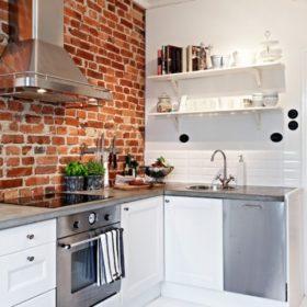 Кирпичная стена в интерьере кухни : преимущества использования в различных стилях, 80+ лучших фото интерьеров