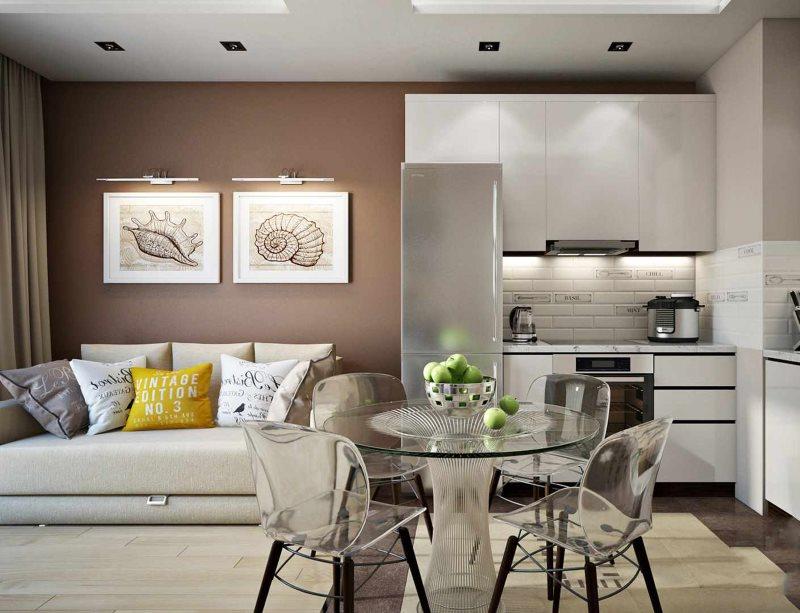 кухня гостиная 18 кв м дизайн