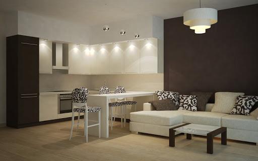 кухня столовая гостиная планировка фото