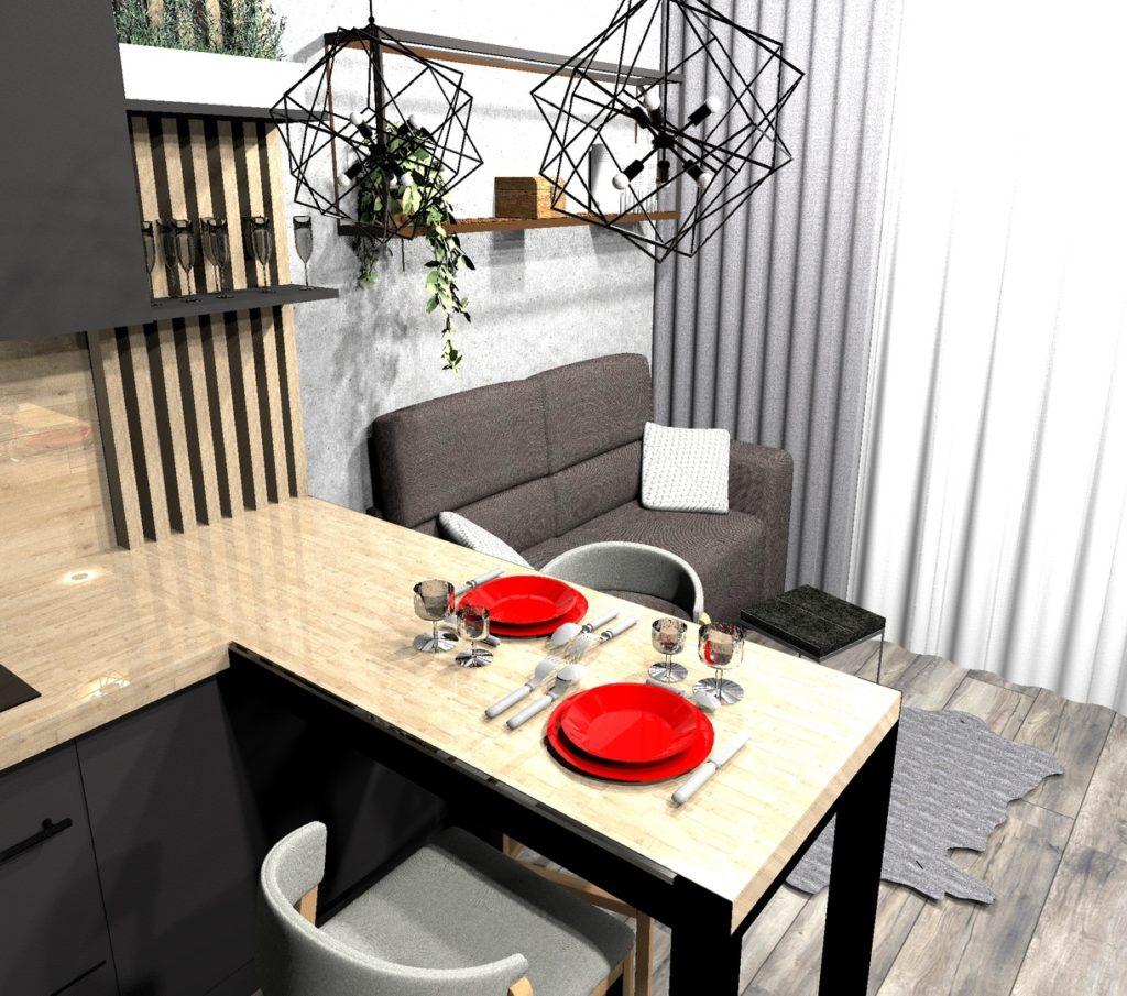 маленькая кухня гостиная
