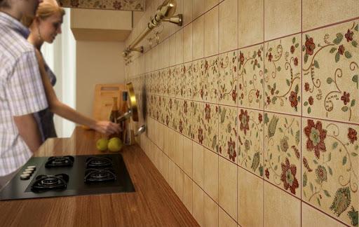 фартук для кухни из плитки фото