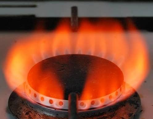 красный газ из конфорки