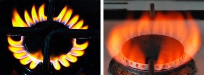 почему газ горит оранжевым цветом в плите