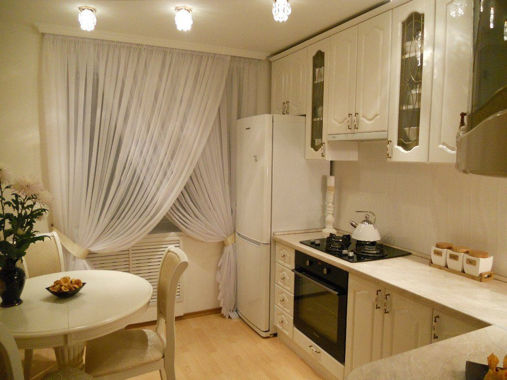 шторы икеа в интерьере кухни