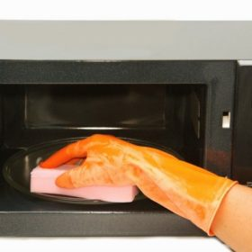 Как быстро отмыть микроволновку внутри от жира
