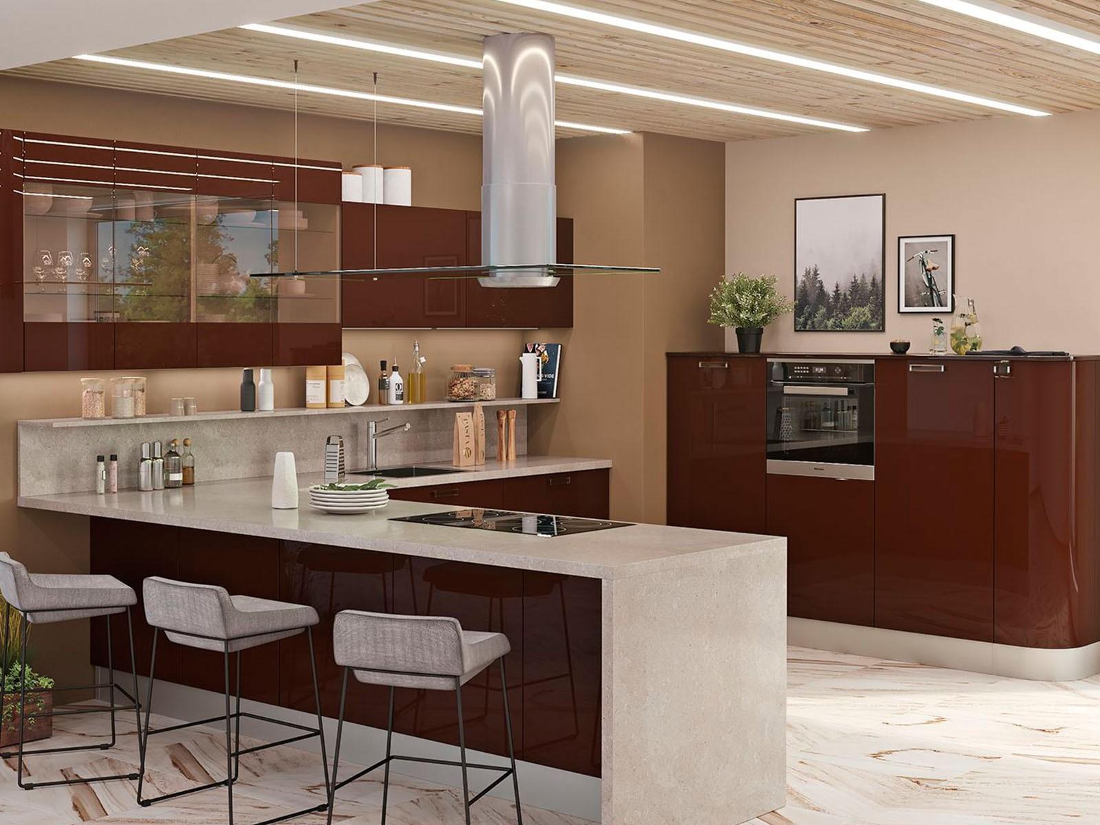 Кухня с барной стойкой: проекты с фотографиями и дизайном